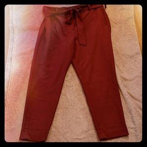 NWT Halogen Maroon Skinny Dress Pants with Belt